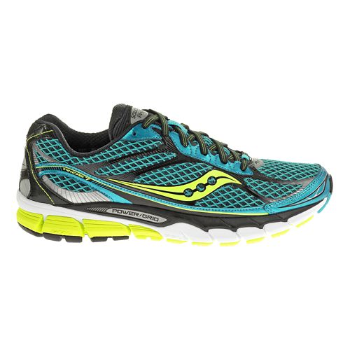 Mens Saucony Ride 7 Running Shoe - Blue/Citron 8