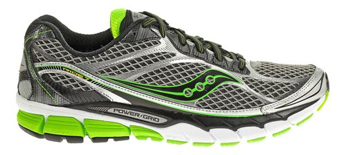 Mens Saucony Ride 7 Running Shoe - Grey/Green 8