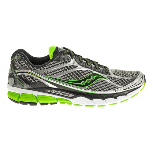 Mens Saucony Ride 7 Running Shoe - Grey/Green 10.5