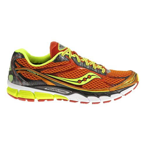 Mens Saucony Ride 7 Running Shoe - Orange/Citron 7.5