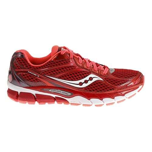 Womens Saucony Ride 7 Running Shoe - Berry/Vizicoral 7.5