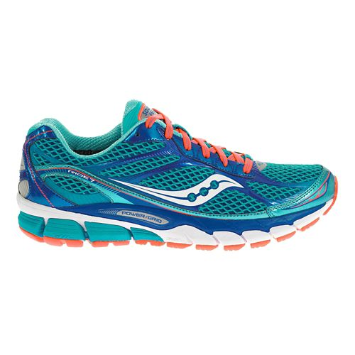 Womens Saucony Ride 7 Running Shoe - Blue 9