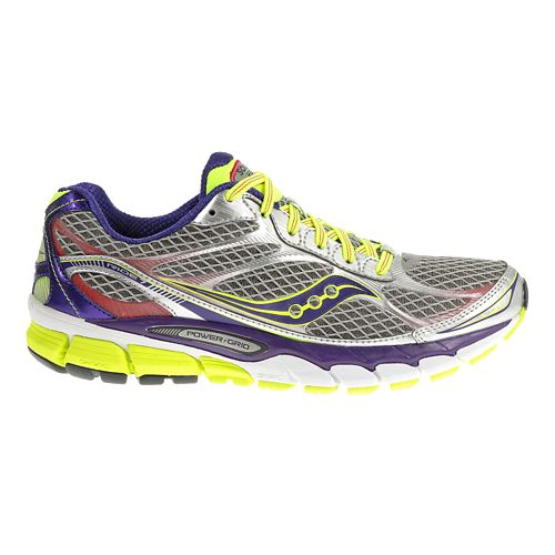 Womens Saucony Ride 7 Running Shoe - Silver/Purple 7.5