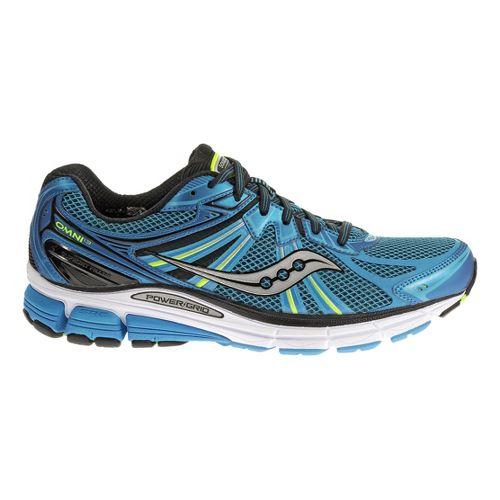 Mens Saucony Omni 13 Running Shoe - Blue/Citron 14