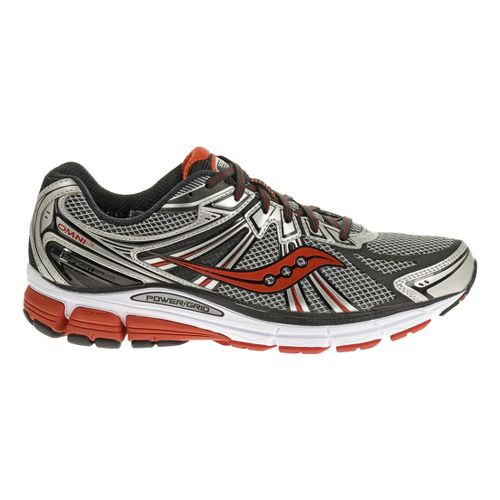 Mens Saucony Omni 13 Running Shoe - Silver/Red 12.5