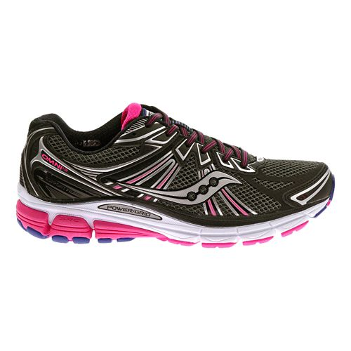 Womens Saucony Omni 13 Running Shoe - Black/Pink 11.5