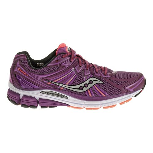 Womens Saucony Omni 13 Running Shoe - Purple/Coral 7.5
