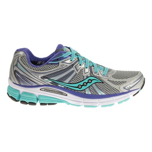 Womens Saucony Omni 13 Running Shoe - Silver/Blue 5.5