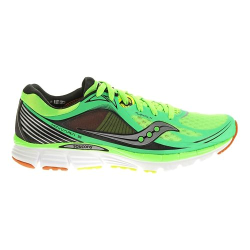 Mens Saucony Kinvara 5 Running Shoe - Slime/Orange 7.5