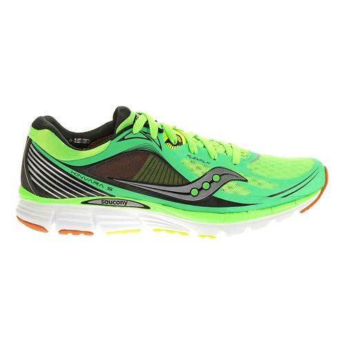 Mens Saucony Kinvara 5 Running Shoe - Slime/Orange 8.5
