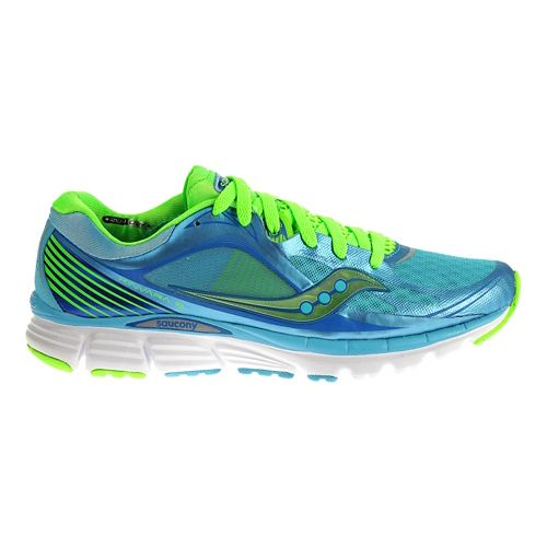 Womens Saucony Kinvara 5 Running Shoe - Blue/Green 9.5