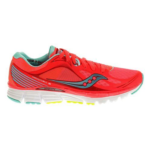 Womens Saucony Kinvara 5 Running Shoe - Pink/Blue 8.5