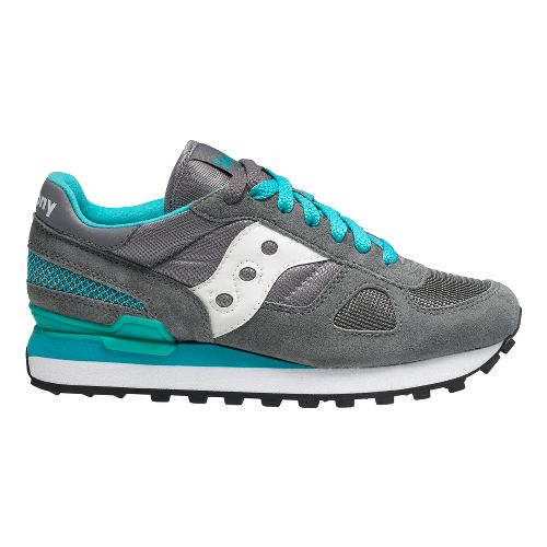 Womens Saucony Shadow Original Casual Shoe - Grey/Teal 9.5