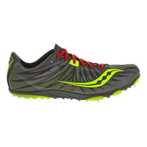 Mens Saucony Carrera XC Spike Cross Country Shoe - Black/Red 11.5