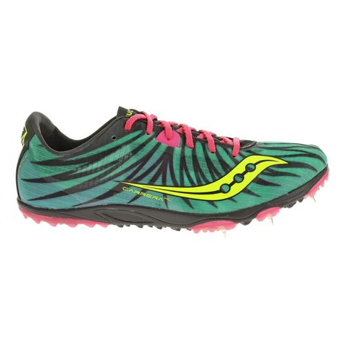 Womens Saucony Carrera XC Spike Cross Country Shoe - Teal/Pink 5.5