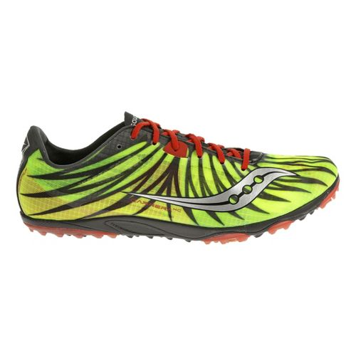 Mens Saucony Carrera XC Flat Cross Country Shoe - Citron/Black 12