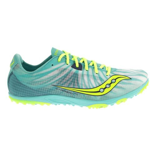 Womens Saucony Carrera XC Flat Cross Country Shoe - Blue/Citron 7.5