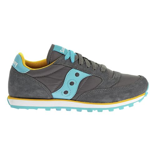 Womens Saucony Jazz Low Pro Casual Shoe - Charcoal/Blue 8.5