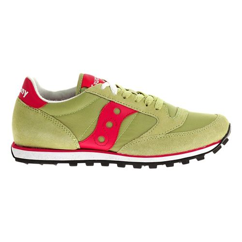 Womens Saucony Jazz Low Pro Casual Shoe - Light Green/Pink 6.5