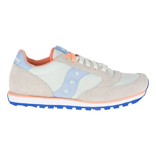 Womens Saucony Jazz Low Pro Casual Shoe - Light Green/Pink 8.5
