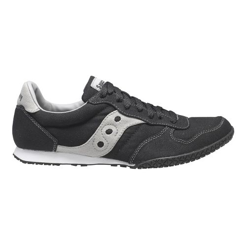 Mens Saucony Bullet Vegan Casual Shoe - Black/Grey 9.5
