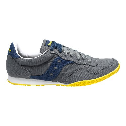 Mens Saucony Bullet Vegan Casual Shoe - Grey/Blue 8.5