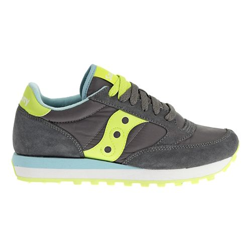 Womens Saucony Jazz Original Casual Shoe - Charcoal/Green 8