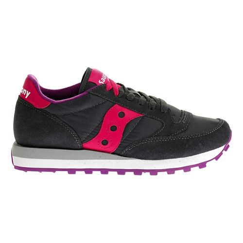 Womens Saucony Jazz Original Casual Shoe - Charcoal/Pink 6.5