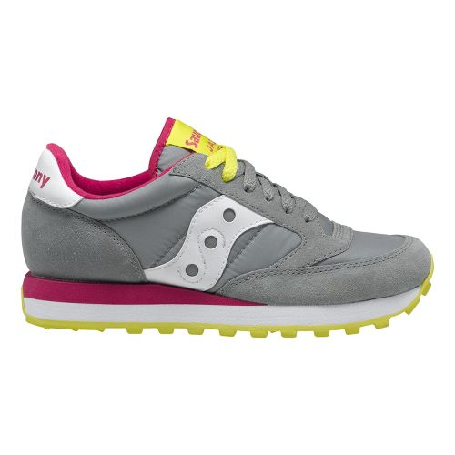 Womens Saucony Jazz Original Casual Shoe - Grey/Pink 6
