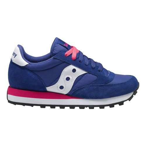 Womens Saucony Jazz Original Casual Shoe - Navy/Pink 7.5