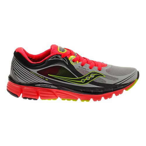 Womens Saucony Kinvara 5 ViZiGLO Running Shoe - Silver/Coral 7.5