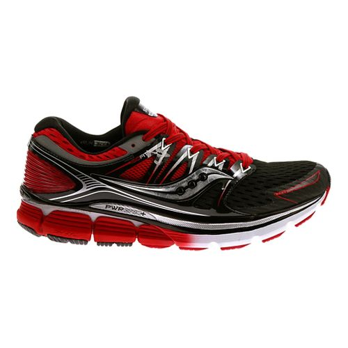 Mens Saucony Triumph ISO Running Shoe - Black/Red 7