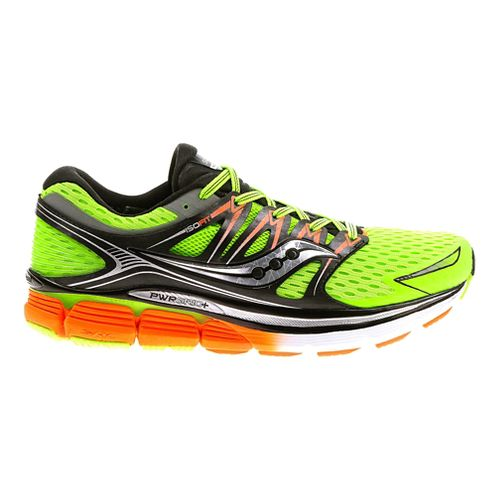 Mens Saucony Triumph ISO Running Shoe - Slime/Black 11