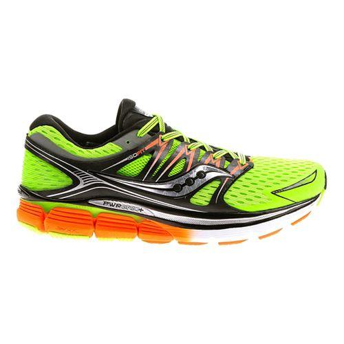 Mens Saucony Triumph ISO Running Shoe - Slime/Black 9.5