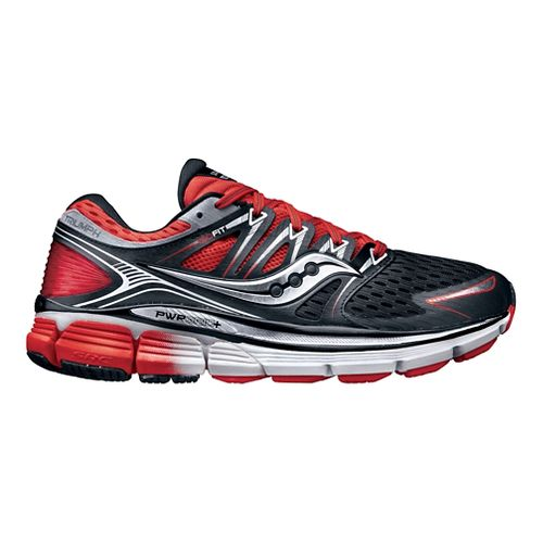 Mens Saucony Triumph ISO Running Shoe - Black/Red 10