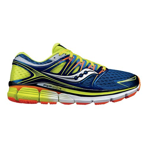 Mens Saucony Triumph ISO Running Shoe - Blue/Citron 15
