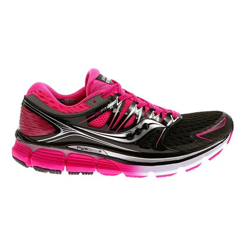 Womens Saucony Triumph ISO Running Shoe - Black/Pink 8.5