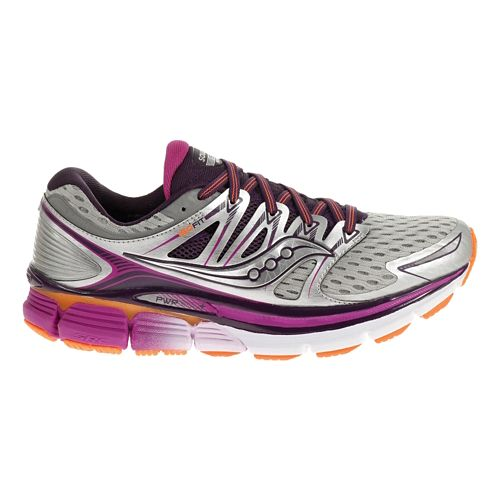 Womens Saucony Triumph ISO Running Shoe - Silver/Purple 7