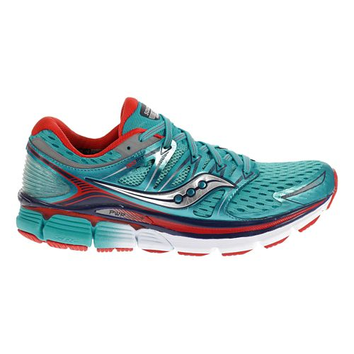 Womens Saucony Triumph ISO Running Shoe - Blue/Red 5