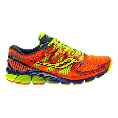 Mens Saucony Zealot ISO Running Shoe - ViziOrange/Blue 9