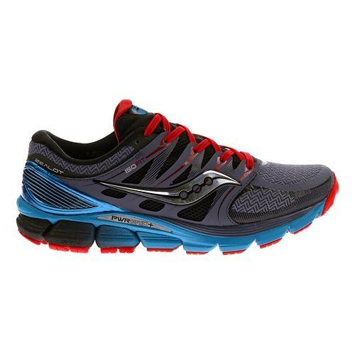 Mens Saucony Zealot ISO Running Shoe - Grey/Blue 8