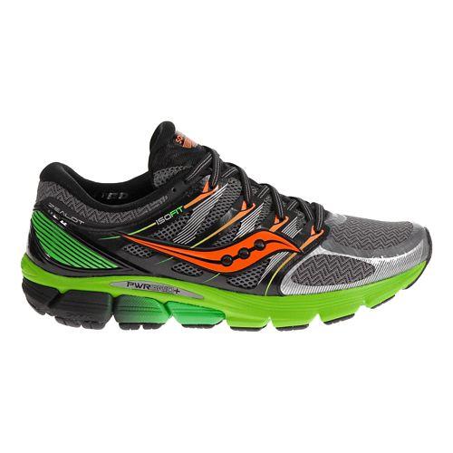 Mens Saucony Zealot ISO Running Shoe - Grey/Green 11.5