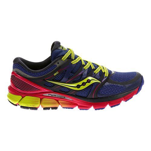 Womens Saucony Zealot ISO Running Shoe - Navy/Pink 7.5