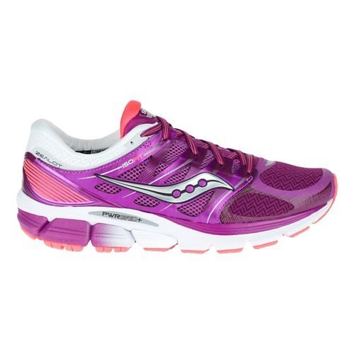 Womens Saucony Zealot ISO Running Shoe - Purple/Coral 10.5