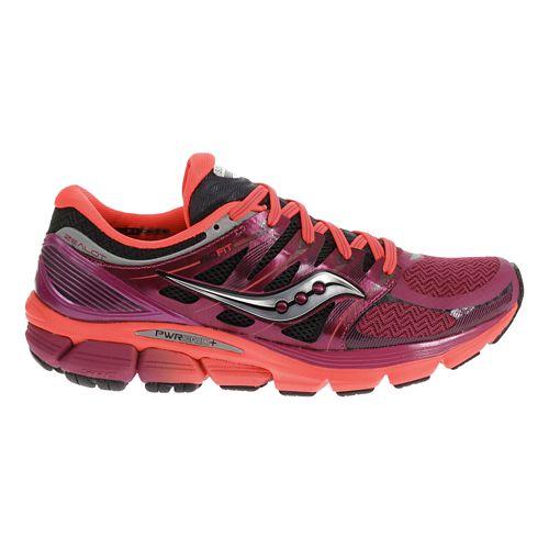 Womens Saucony Zealot ISO Running Shoe - Magenta/Coral 6.5