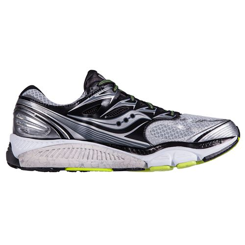 Mens Saucony Hurricane ISO Running Shoe - Silver/Black 8.5