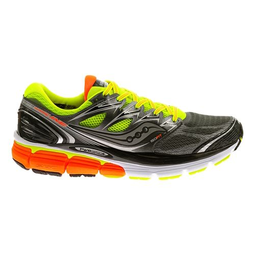 Mens Saucony Hurricane ISO Running Shoe - Grey/Citron 8