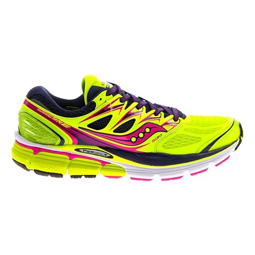 Womens Saucony Hurricane ISO Running Shoe - Citron 10