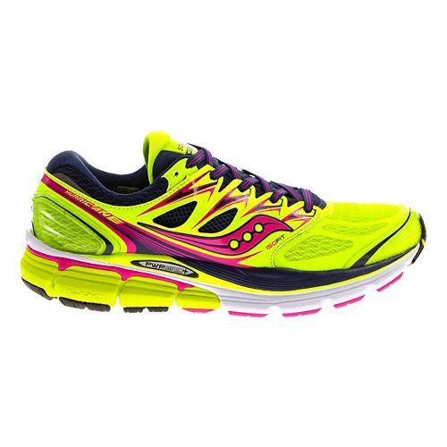 Womens Saucony Hurricane ISO Running Shoe - Citron 11