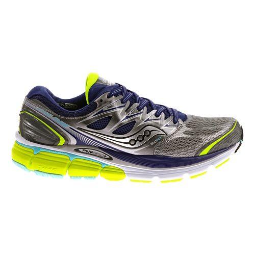 Womens Saucony Hurricane ISO Running Shoe - Grey/Twilight 6.5
